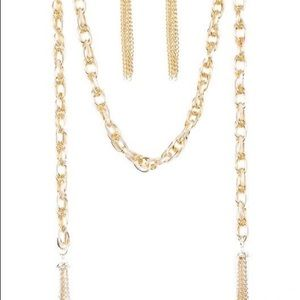 """New! """"SCAR-fed For Attention"""" Gold Necklace"""